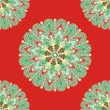 Mandala seamless pattern with many details. Vector illustration vector illustration
