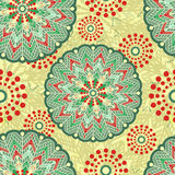Mandala seamless pattern with many details. Vector illustration Stock Images