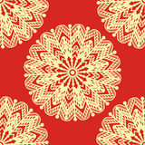 Mandala seamless pattern with many details. Vector illustration Royalty Free Stock Photography