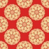 Mandala seamless pattern with many details. Vector illustration Royalty Free Stock Photos