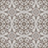 Mandala seamless pattern.Orient ethnic ornament.Brown Royalty Free Stock Image
