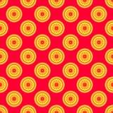 Mandala seamless pattern. On a red background Royalty Free Stock Image