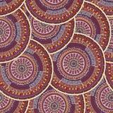 Mandala seamless pattern. Round ornament mandala seamless pattern design Royalty Free Stock Photos