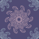 Mandala seamless  pattern. Round Ornament Pattern. Vintage decorative elements. Hand drawn background. Islam, Arabic, Indian motifs Stock Photos