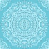 Mandala seamless pattern. Seamless pattern with mandala ornament. Hand drawn vector illustration Royalty Free Stock Images