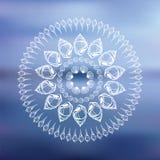 Mandala. Seehintergrund. Stockbild