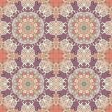 Mandala sem emenda do teste padrão do vintage Imagens de Stock Royalty Free
