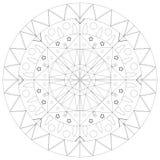 Mandala semplice Fotografie Stock