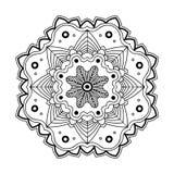 Mandala semplice floreale Fotografia Stock