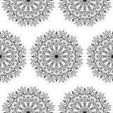 Mandala senza cuciture del fiore del modello Elementi decorativi dell'annata illustrazione vettoriale