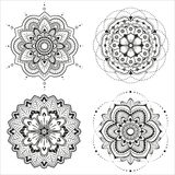 Mandala set royalty free illustration