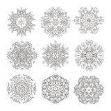 Mandala set. Abstract decorative background. Islam, Arabic, oriental, indian, ottoman, yoga motifs. Vector ornament collection for coloring pages Stock Photo