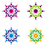 Mandala2. A set of colorful, simple mandalas Royalty Free Stock Image