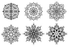 Mandala. Set for coloring Stock Photos