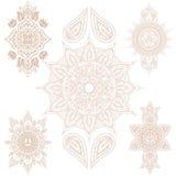Mandala Set et éléments orientaux Vecteur Illustration Libre de Droits