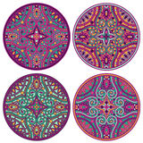 Mandala set. Vector ornamental festive traditional indian mandala set Stock Photos
