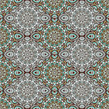 Mandala in shades of green. East, ethnic design, oriental pattern, round ornament. For use in fabric , print, tattoo, fretwork, br Stock Images