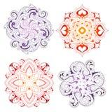 Mandala shape ornaments Royalty Free Stock Images