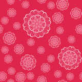 Mandala Shapes Geometric Seamless Pattern rosa Ripetizione della struttura del fondo nel colore rosa Illustrazione alla moda di v Fotografie Stock Libere da Diritti