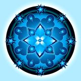 Mandala shield. Abstract design royalty free illustration