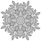 mandala Sidor för färgläggningbok Arkivbilder