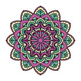 mandala Sier rond patroon stock illustratie