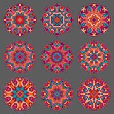 Mandala sign ornament collection. Royalty Free Stock Photography