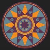 Mandala, simbol étnico Ilustração Stock
