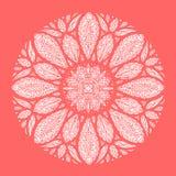 Mandala, simbolo geometrico dell'universo, meditazione del modello di yoga di chakra Fotografia Stock