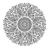 Mandala, simbolo geometrico dell'universo, yoga del modello di chakra Immagine Stock Libera da Diritti