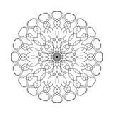 Mandala simple de la forma para colorear en un fondo blanco ilustración del vector