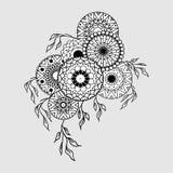 Mandala składu czerń Obrazy Royalty Free