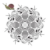 Mandala snails. Royalty Free Stock Photography