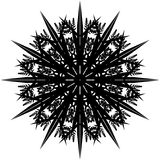 Mandala, Sneeuwvlok II vector illustratie