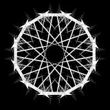 Mandala, Snowflake, διακόσμηση Στοκ εικόνες με δικαίωμα ελεύθερης χρήσης