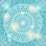 Mandala snowflake background Royalty Free Stock Photos