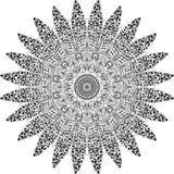Mandala som dras i handboken vektor illustrationer