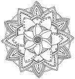 Mandala som färgar Arkivbild