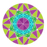 Mandala som isoleras på vit bakgrund Royaltyfria Bilder