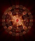 Mandala Spirit di fuoco Immagini Stock