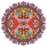 Mandala stam- etnisk prydnad, islamisk vektor stock illustrationer
