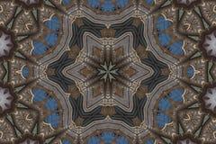 Mandala star with hearts Stock Photography