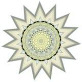 Mandala star like shape background Stock Image