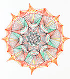 Mandala star shape design Stock Photos