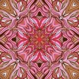 Mandala-stijl naadloos die patroon van bloemen wordt gemaakt stock illustratie