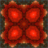 Mandala. Strawberry  abstract background Royalty Free Stock Images