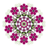 Mandala with striped flowers. Royalty Free Stock Images