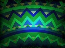 Mandala styl abstrakcjonistyczny tło błękitny i zielony z czarnym grunge - ilustracji