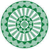 Mandala style Celtic style endless knot symbols in white and black inspired by Irish St Patrick`s Day vector illustration