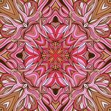 Mandala-style seamless pattern made of floral Royalty Free Stock Images